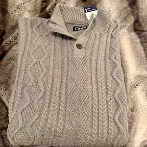 Chaps Large Grey Mans Sweater